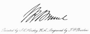 Signature of Isambard Kingdom Brunel