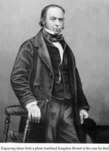Engraving of image of Isambard Kingdom Brunel, 1859