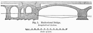 Woodcut of the Maidenhead Bridge