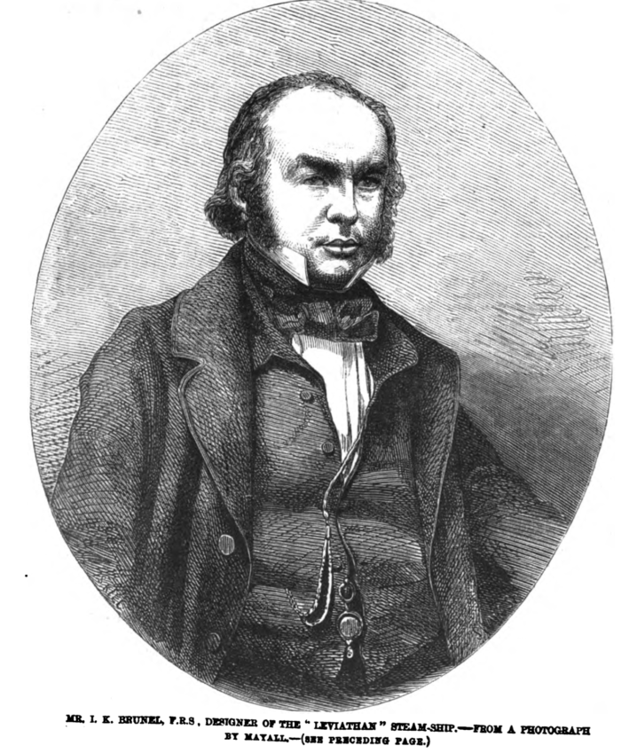engraving of Isambard Kingdom Brunel